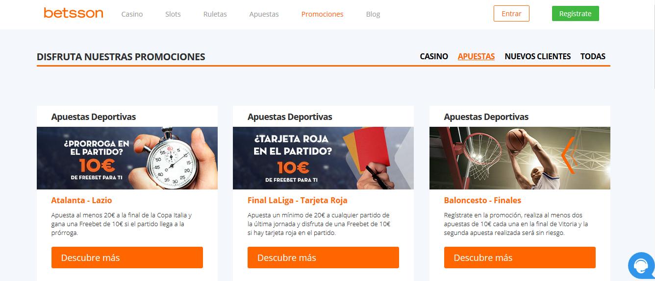 Promociones Betsson en Perú