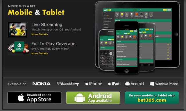 aplicación mobile Bet365
